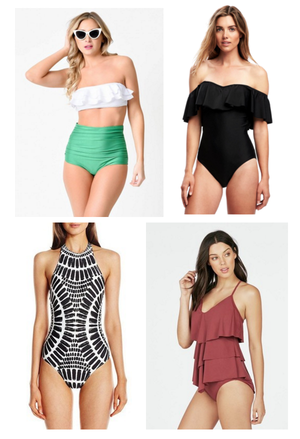 Stylish Affordable Bathing Suits That Hide Your Tummy